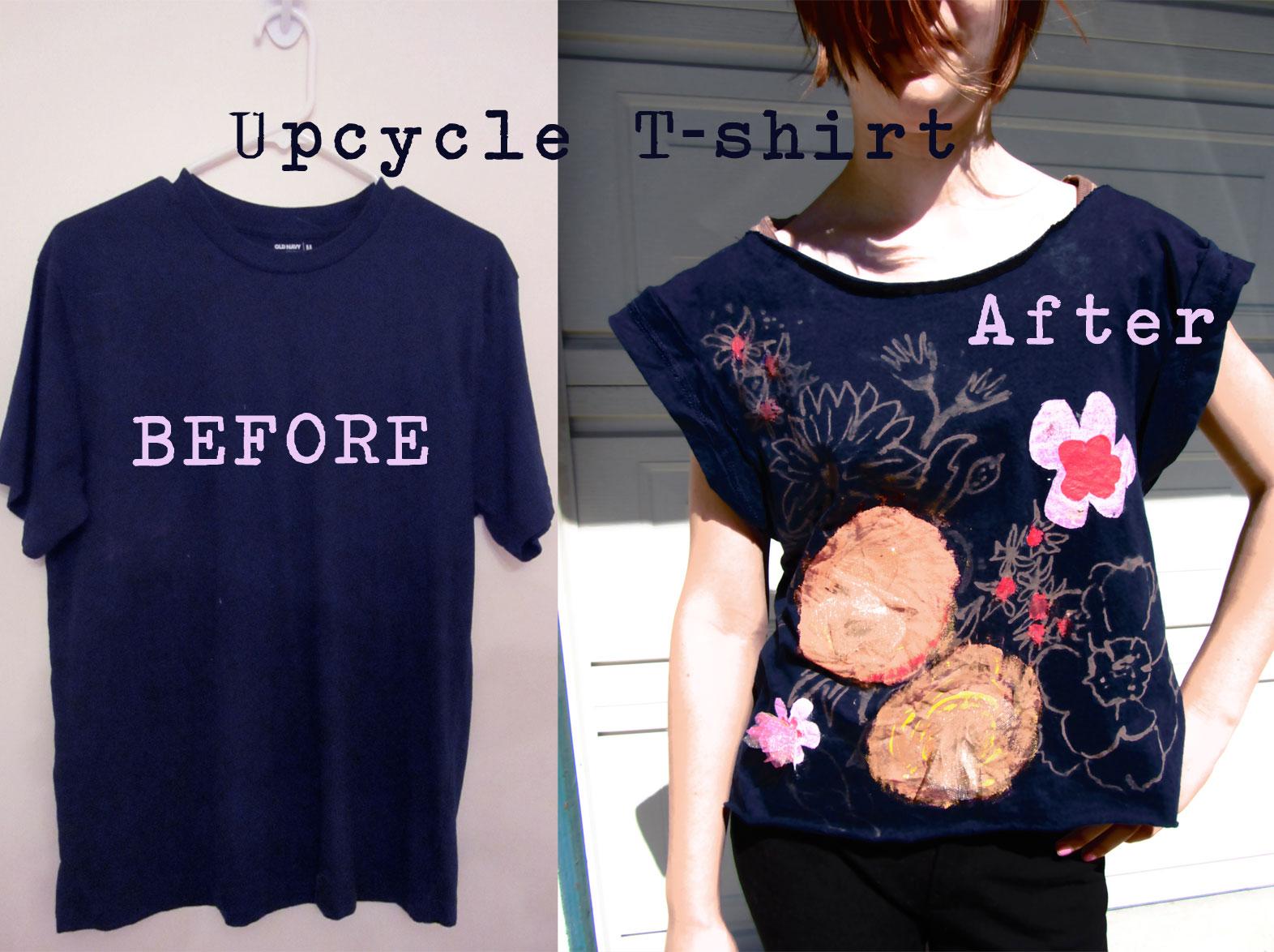upcycle t shirt. Black Bedroom Furniture Sets. Home Design Ideas
