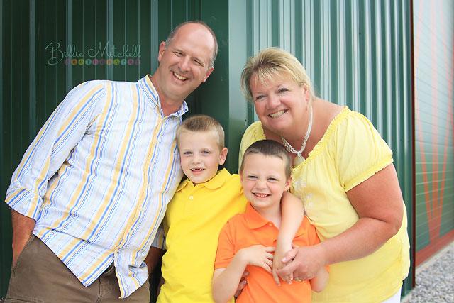 Family photo in Hendersonville, North Carolina.