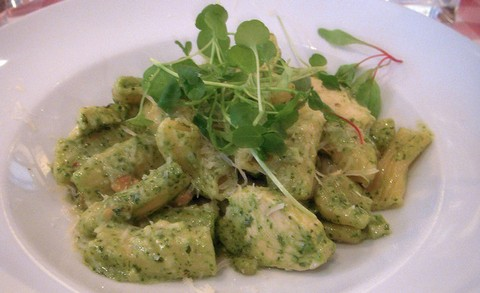 Penne Pasta with Pesto and Chicken