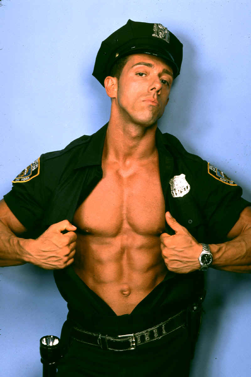 Sexy male officer