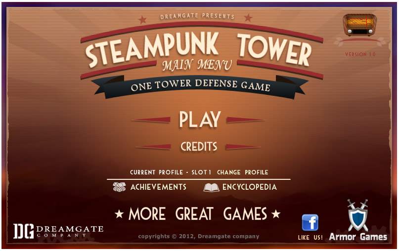 Armor Game : Steampunk Tower