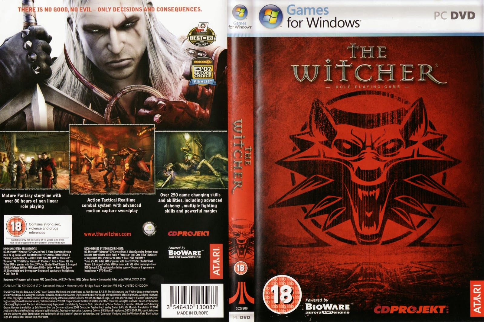 The Witcher - Enhanced Edition PC Game ISO Download