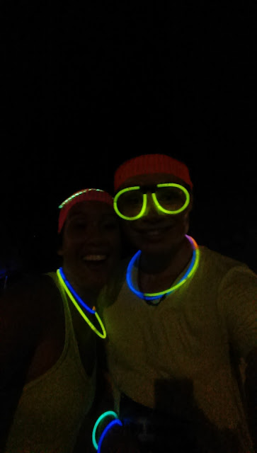 Radiant Run glow sticks brother sister