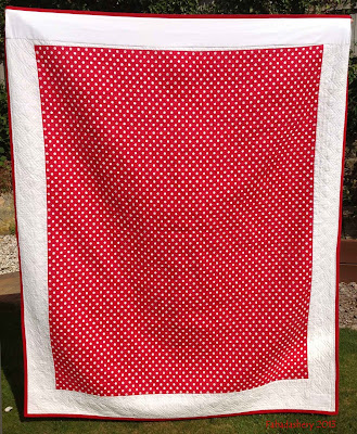 Back - Red and White Pinwheel Quilt