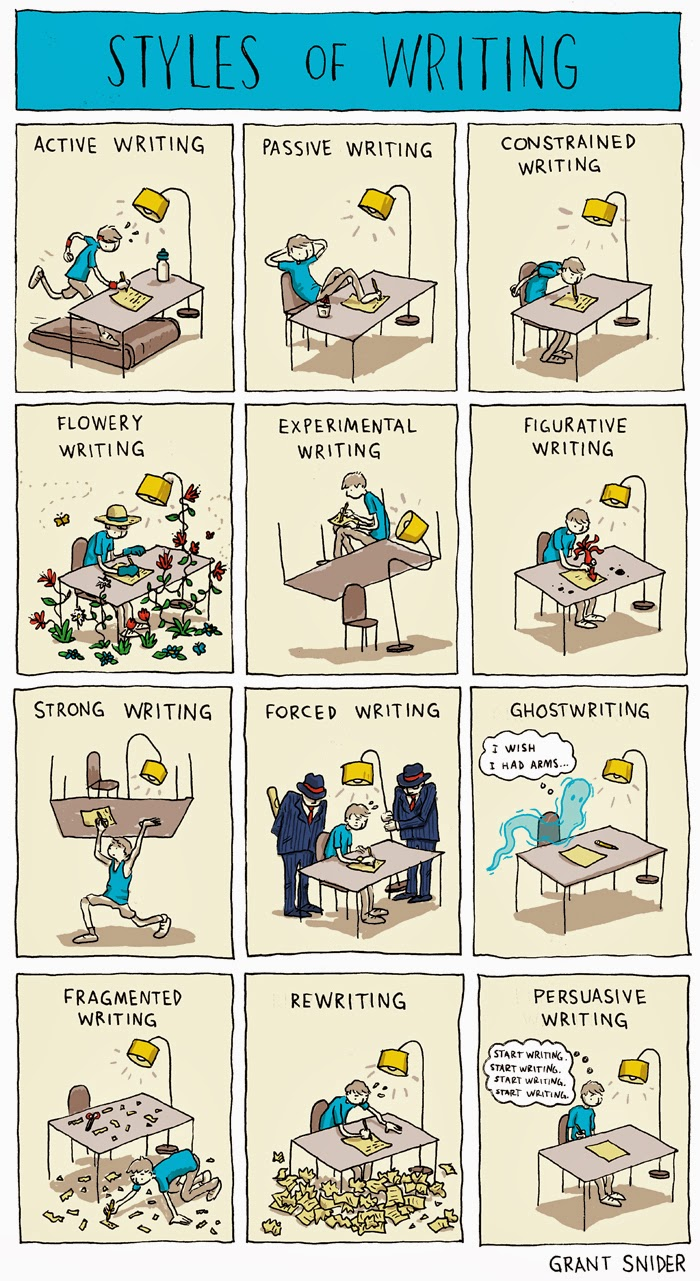 Styles of Writing from Grant Snider