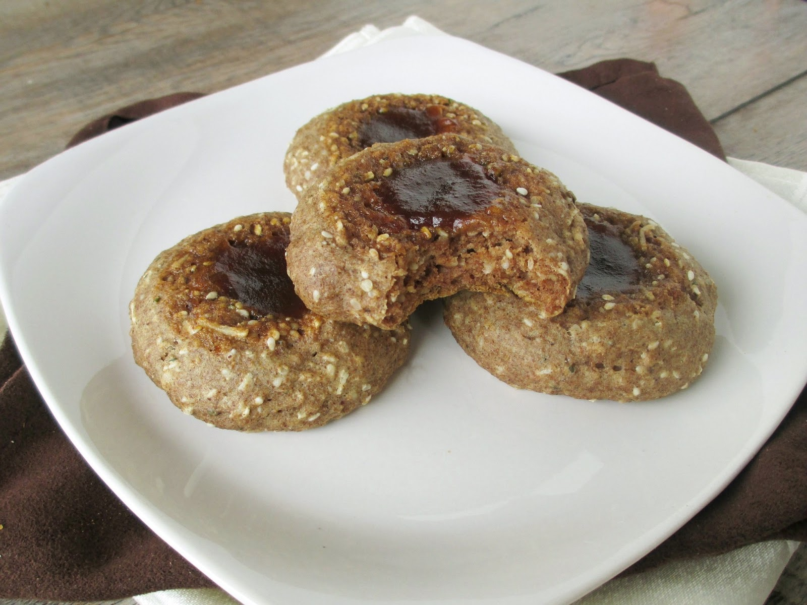Vanilla Spice Thumbprint Energy Cookies With Apple Butter