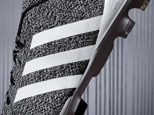 Adidas Primeknit football boots with black and white