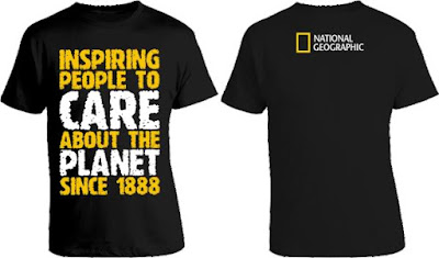 Model Baju National Geographic Depan belakang