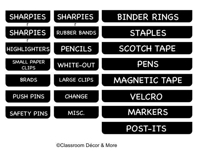 Teacher Toolbox Labels - Toolbox Labels Editable