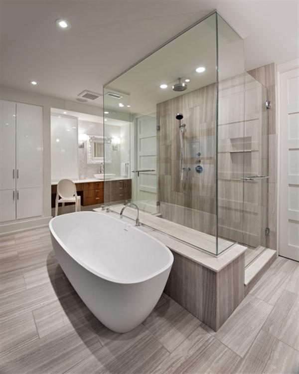Baño De Tina Concepto:trata de un cuarto de baño de diseño muy cómodo y lujoso baño de