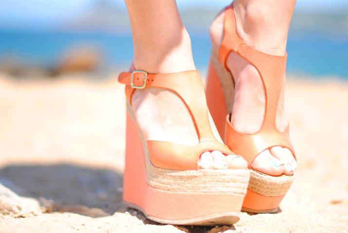 Sandalias cuña esparto en blog de moda