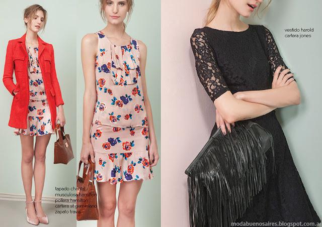 Vestidos invierno 2015 moda mujer Las Pepas.