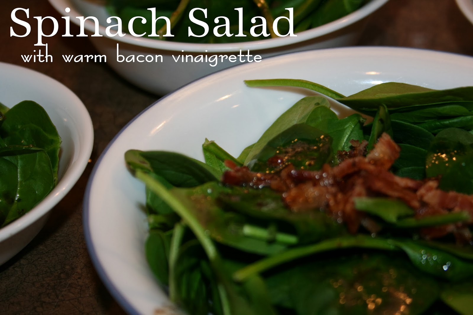 JOY Unspeakable: Spinach Salad {with warm bacon vinaigrette}