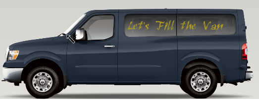 Let's Fill the Van!: Nissan NV - 12 Penger Van