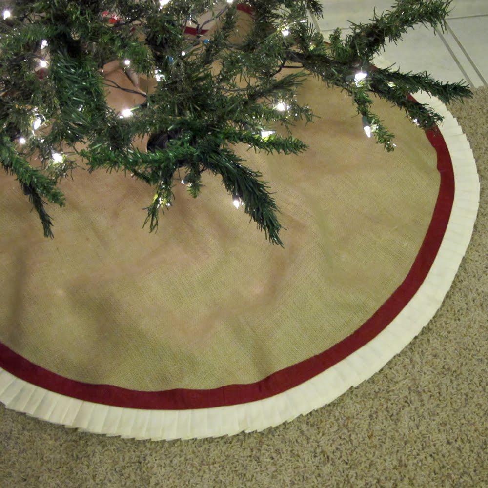 Turnbow family burlap tree skirts