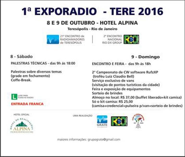 1ª EXORADIO - TERE 2016