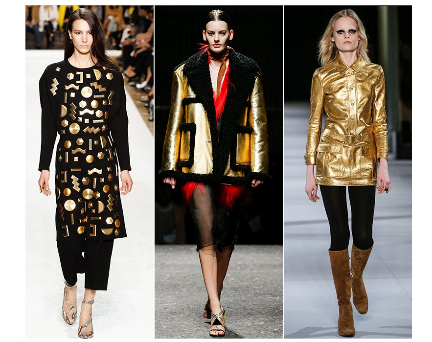 fall fashion trends - gold