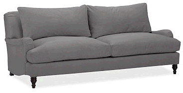 Pottery Barn has a nice looking roll arm. Affordable too! But those darn  back cushions! I knew Iu0027d regret
