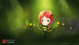 windrunner alleria chibi art dota 2 hd wallpaper