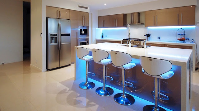 LED lightning in kitchen