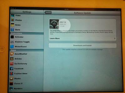 iPad 2 Software update