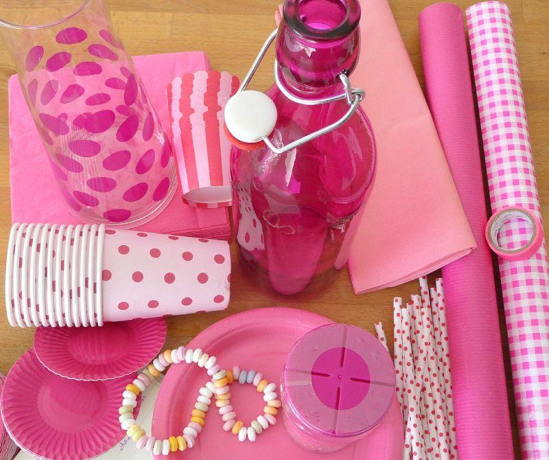 article de fête rose