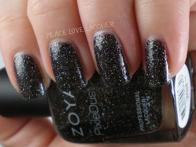 Zoya, PixieDust, Pixies, texture polish, sparkle, black