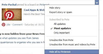 Step 5 on How To Hide Activities of Pinterest on Facebook