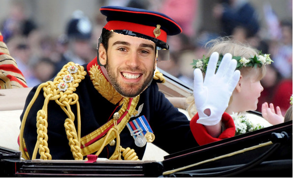 Prince Cam Talbot waves to his people