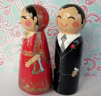 100 9430 - Beautiful Indian Bride & Groom Cake Toppers...
