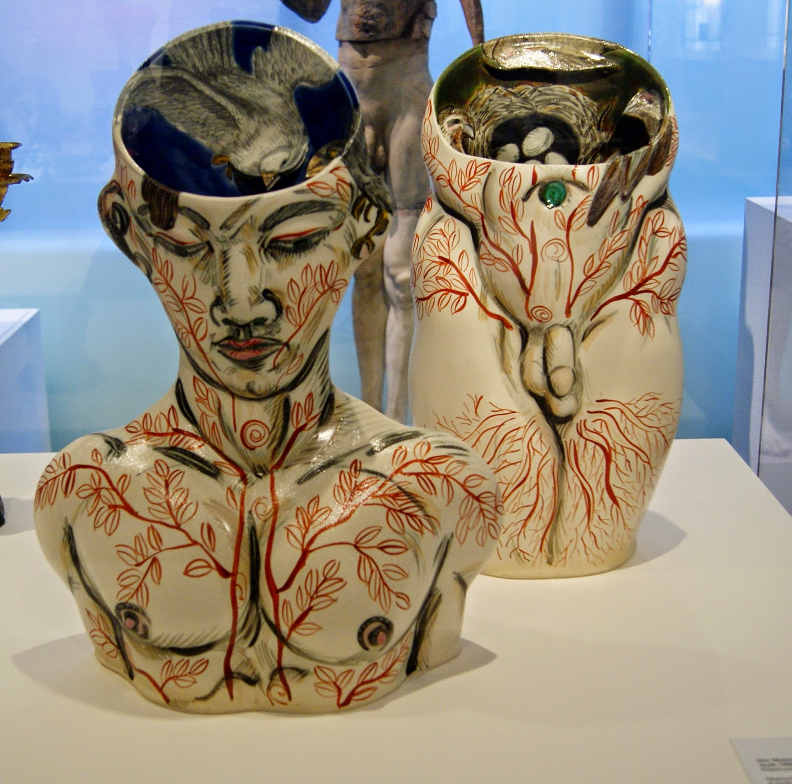 Gardiner Museum of Ceramic Art in Toronto, Artmatters, Culture, Ontario, Canada, MelaniePs, The Purple Scarf, Camp Fires, Exhibit, Exhibition, Modern, Contemporary Gallery, Akio Takamori, Youth