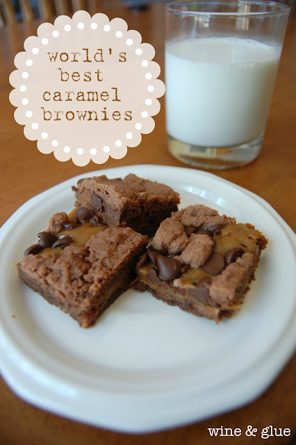 The World's Best Caramel Brownie Recipe