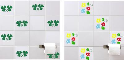 adesivos de banheiro no azulejo