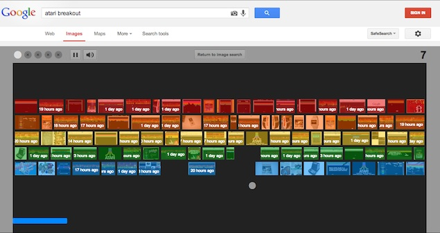 atari breakout on google image