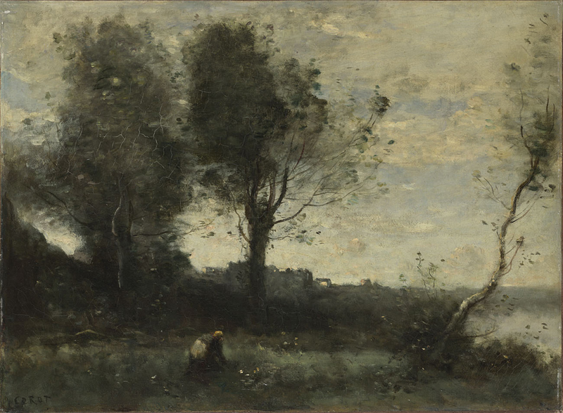 Spencer alley late landscapes of corot 1860s 1870s for Camille corot