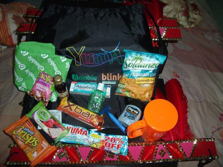 Exemple de goodie bag remis aux carnavaliers à Trinidad