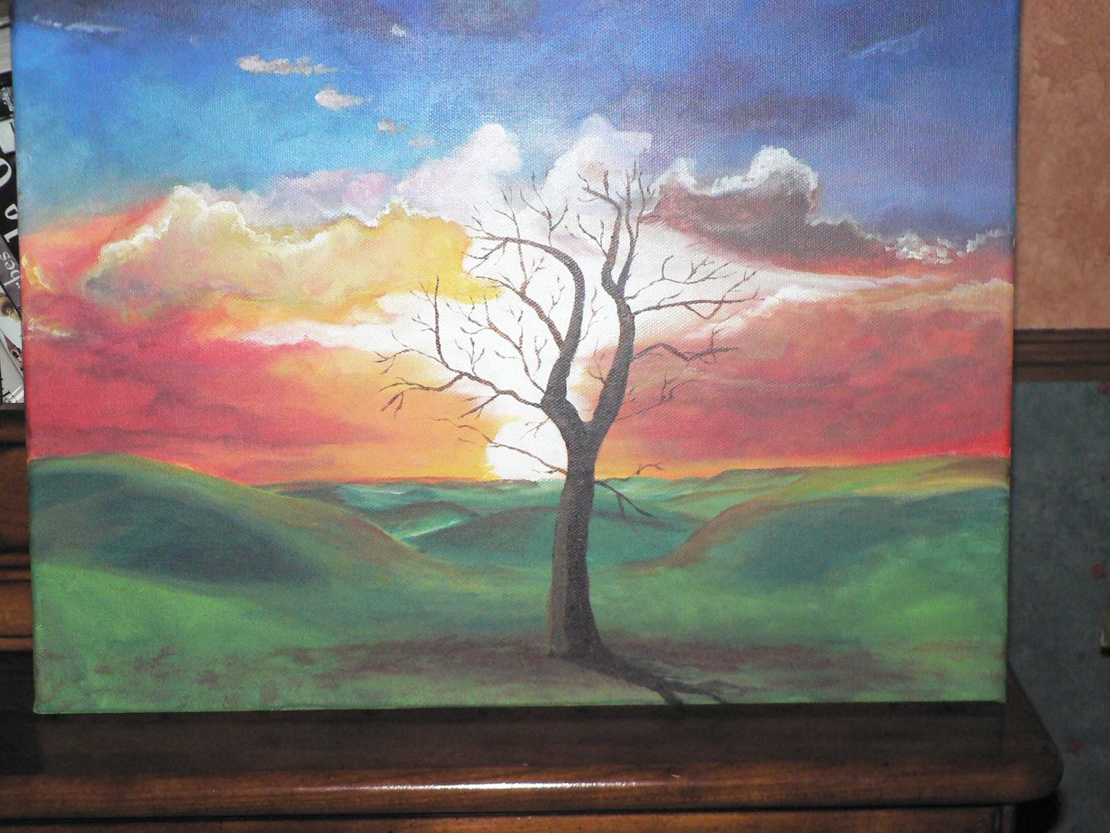 les peintures d 39 evelyne l 39 arbre peinture acrylique. Black Bedroom Furniture Sets. Home Design Ideas