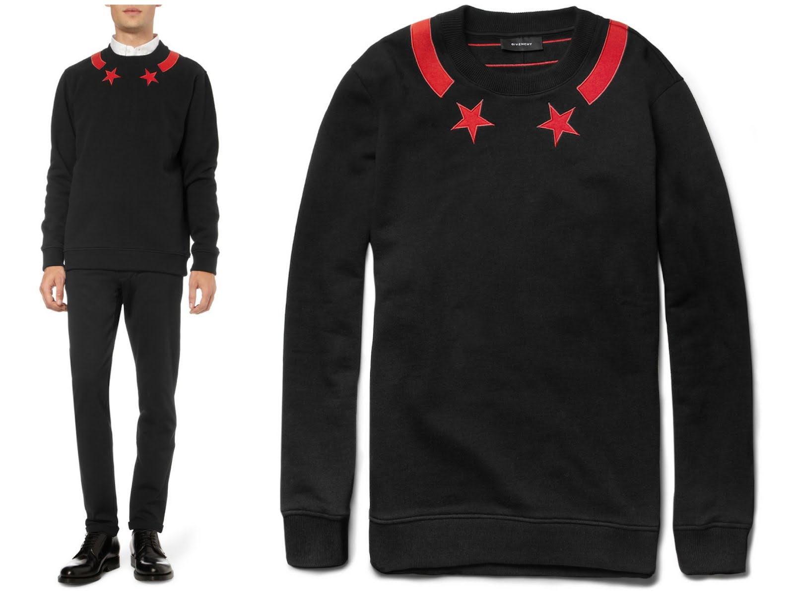 00O00 London Menswear Blog Givenchy Menswear Fall Winter 2012 stars sweater jersey