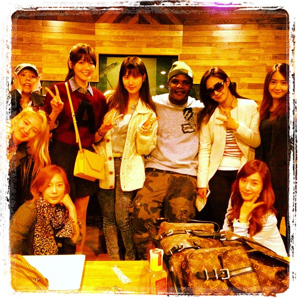 SNSD With Sean Garrett