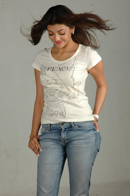 Indian Movie Actress Kajal Agarwal hot in Jeans and top