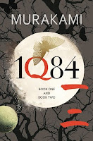 UK hardback book cover of 1Q84 by Haruki Murakami