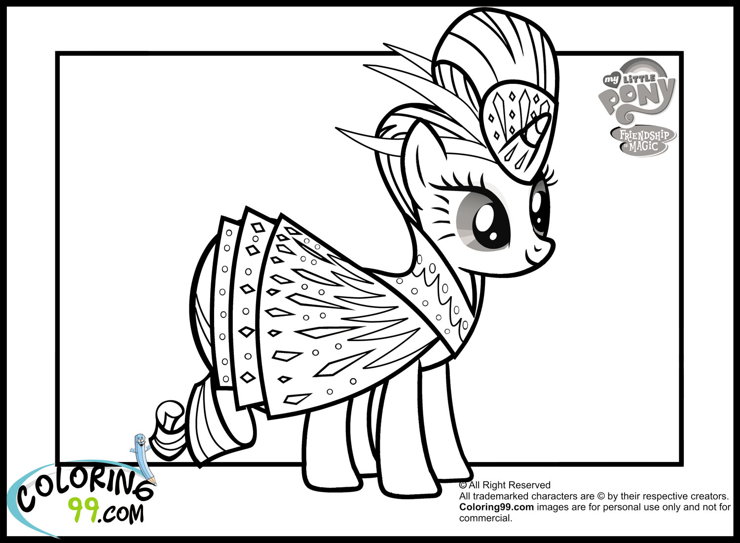 mlp coloring pages rarity - my little pony rarity coloring pages minister coloring