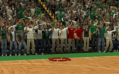 NBA 2K13 Boston Celtics Sideline Crowds Fix