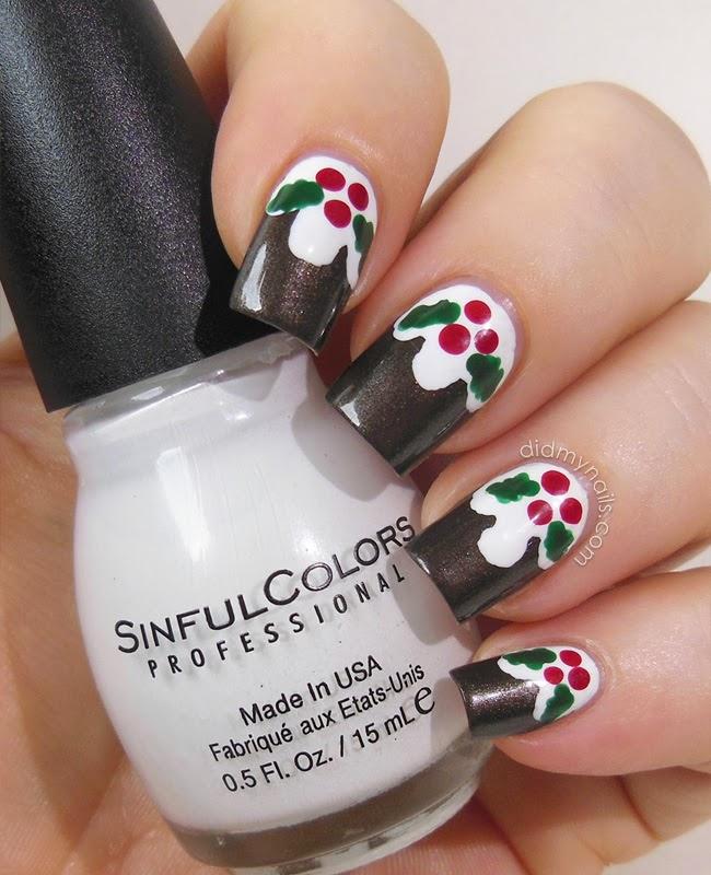 Did My Nails: Christmas Pudding Nail Art Tutorial