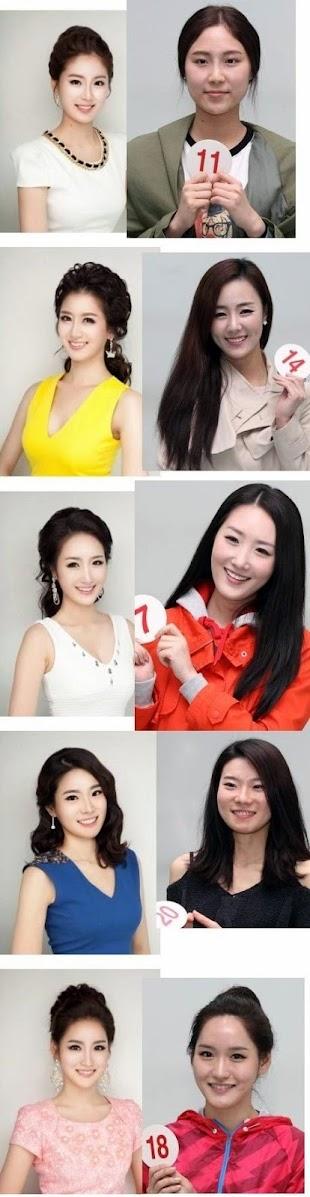 Modelos coreanas antes y después del photoshop