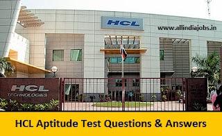 HCL Aptitude Test