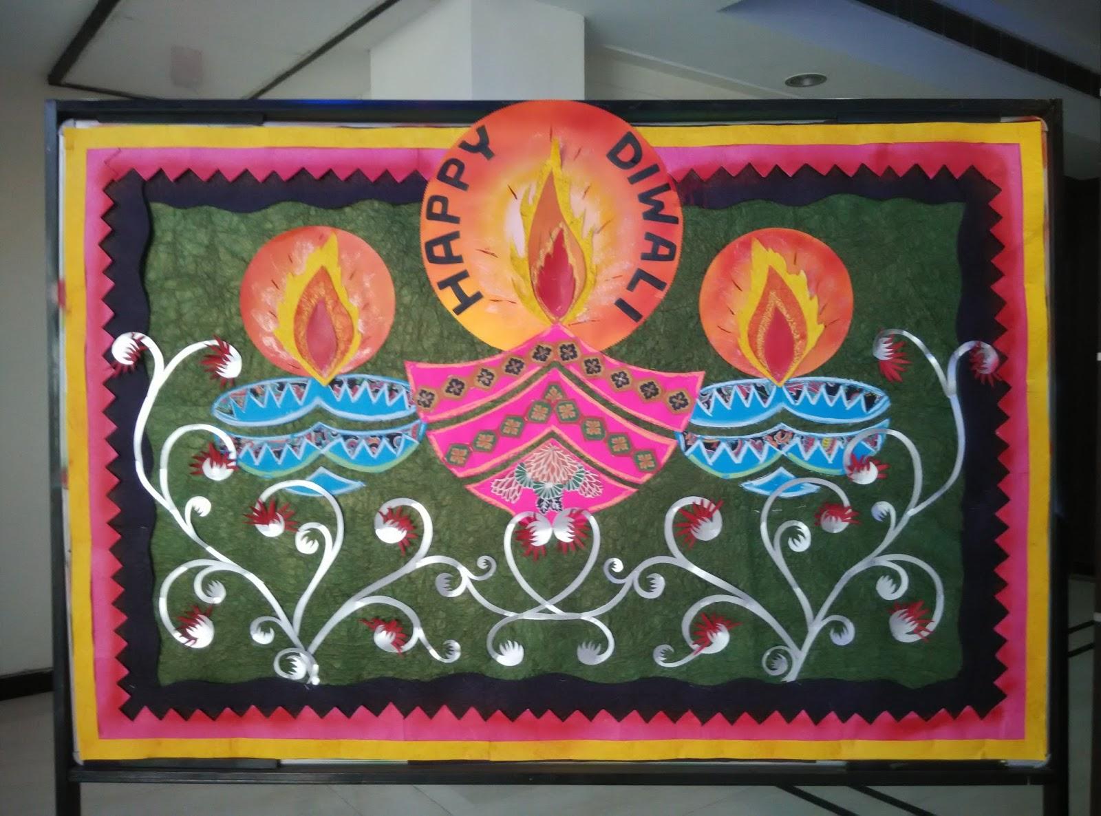 Art ,Craft ideas and bulletin boards for elementary schools: Diwali ... for diwali decoration ideas for school on board  29jwn