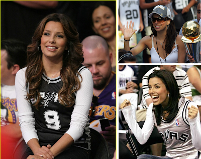 San Antonio Spurs Fan Eva Longoria