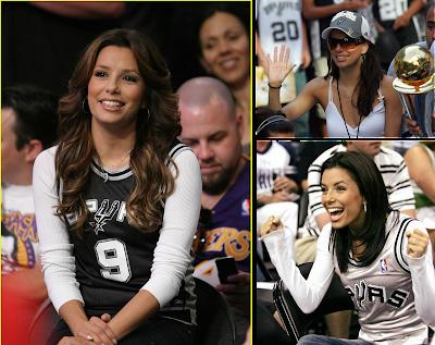 San Antonio Spurs Fan Eva Longoria