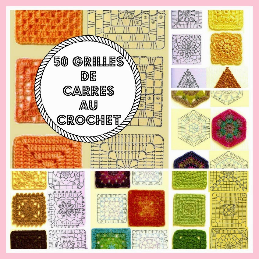 mes favoris tricot crochet 50 grilles de carr s au crochet. Black Bedroom Furniture Sets. Home Design Ideas